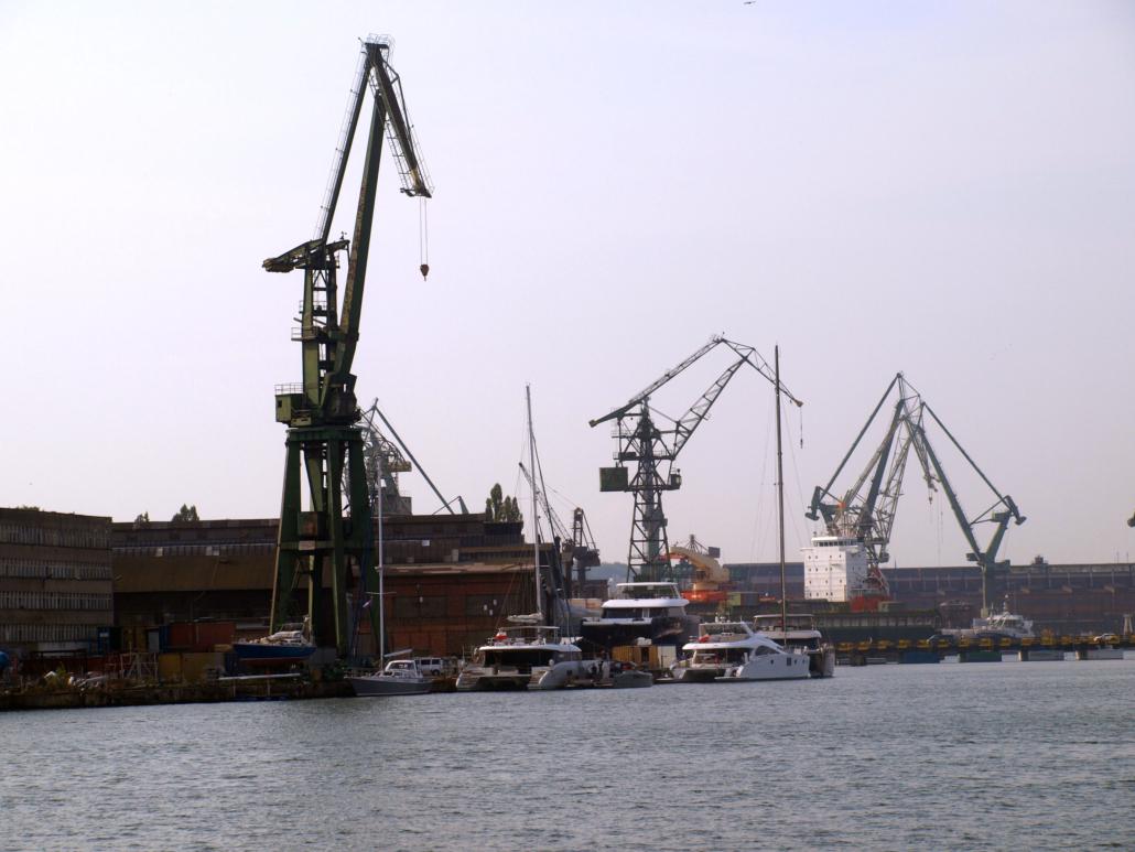 Blick auf die Danziger Werft.