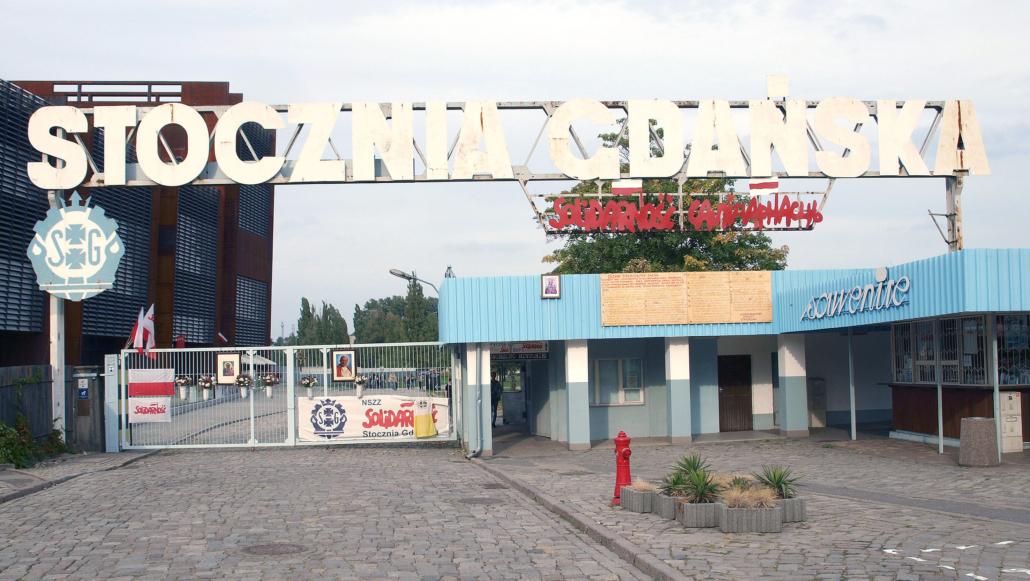 Das ehemalige Tor 2 der Danziger Werft