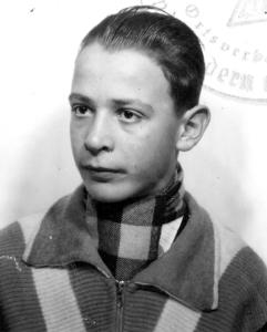 Klaus Peter Fischer als Junge.