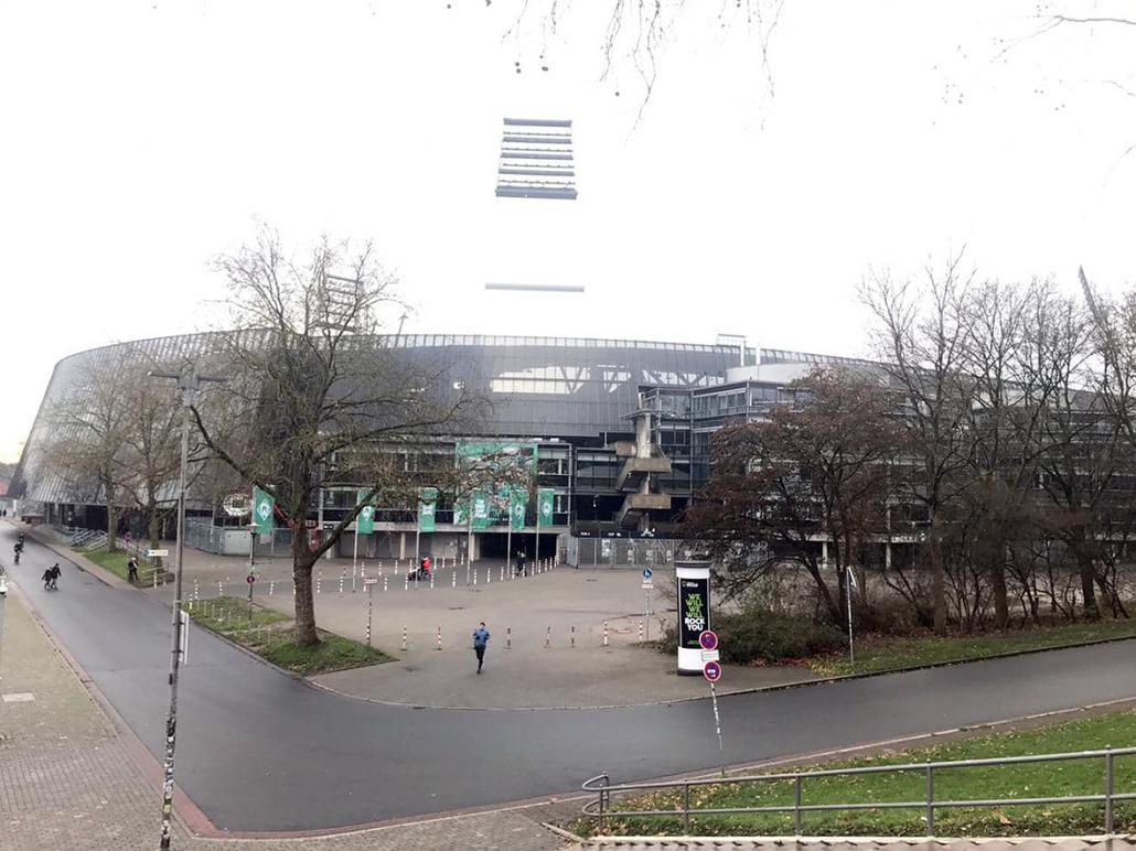 Blick auf das Weserstadion