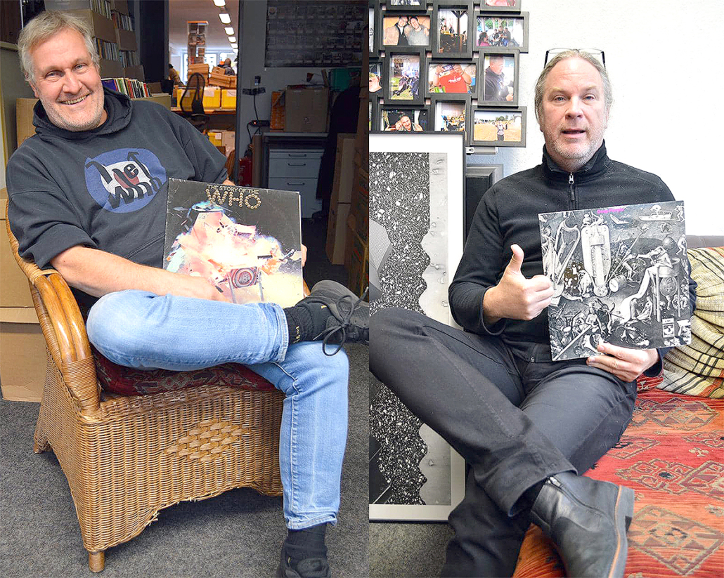 Volker Sieberg (links) und Norbert Fecker, Inhaber von Hot Shots Records.