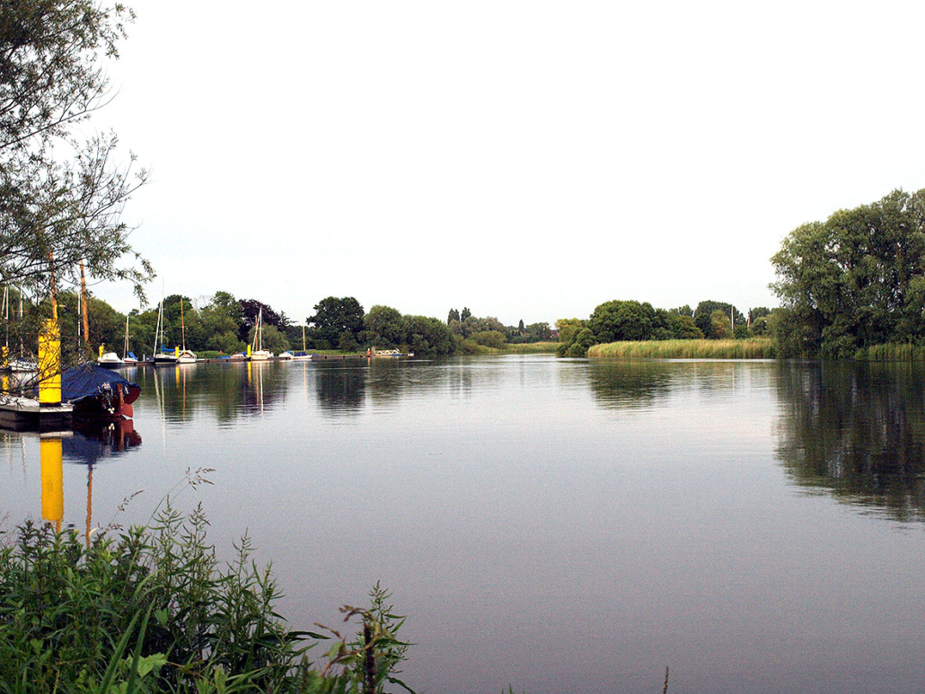 Fluss Lesum Ufer Idylle