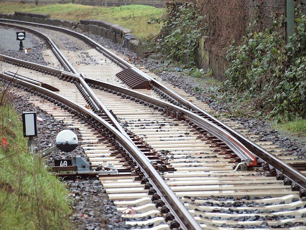 Bahnweiche im Bahnhof