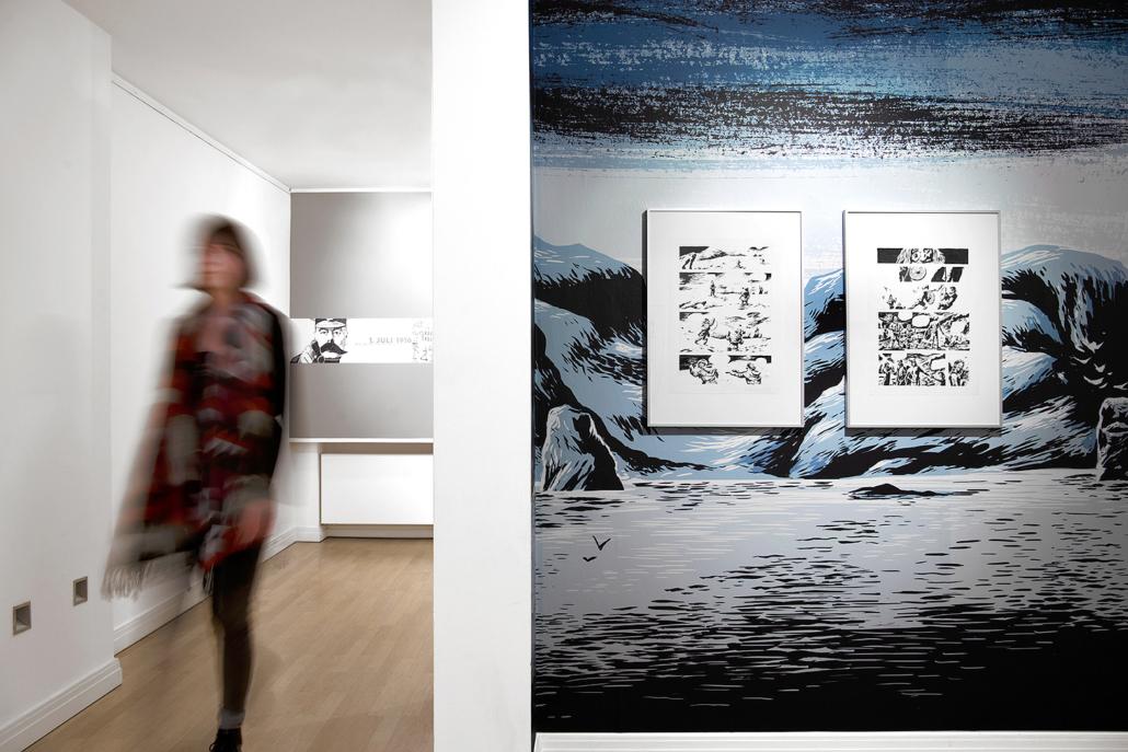 Frau Graphic Novel-Ausstellung Wilhelm-Wagenfeld-Haus