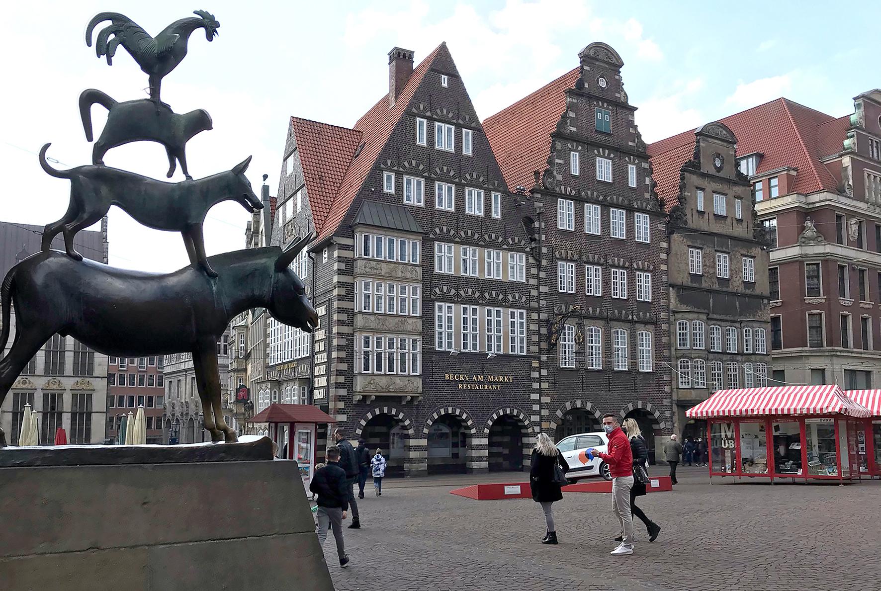Bremer Stadtmusikanten und Liebfrauenkirchhof