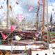 Viele Schiffe im Hafen