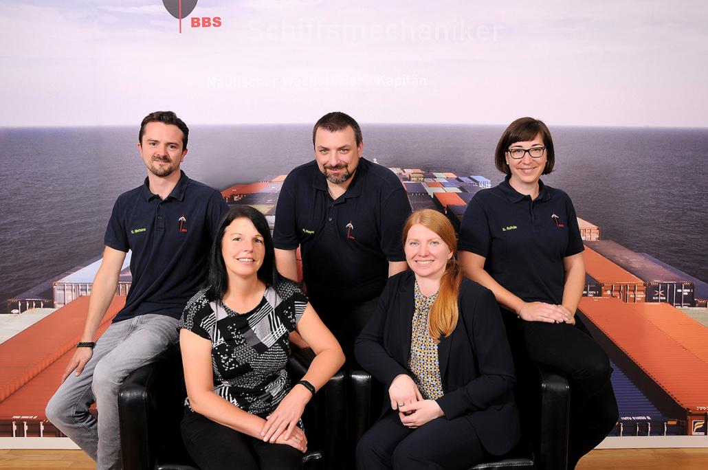 Das Team der BBS (von links): Sebastian Niemann, Silvia Rintel, Mike Meyer, Sabine Zeller und Svenja Rohde.