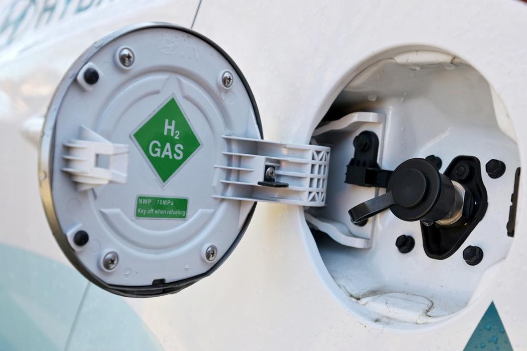 Der Tankschluss bei einem Wasserstoff-Auto