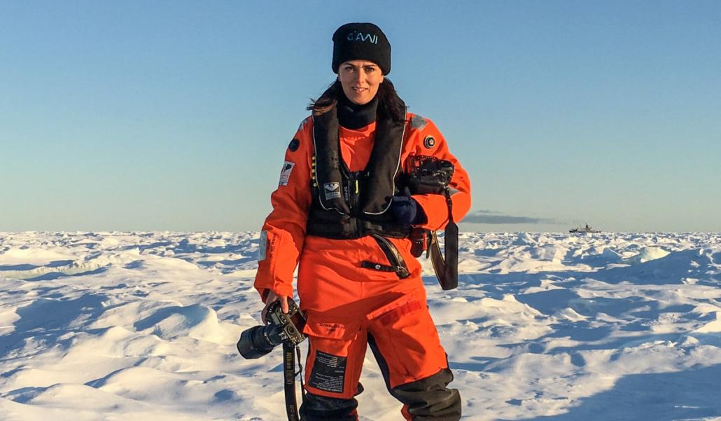 Esther Horvath in der Arktis
