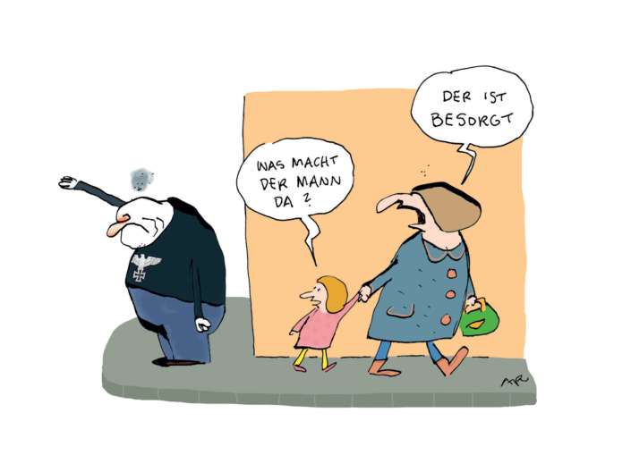 Karikatur von Ari Plikat