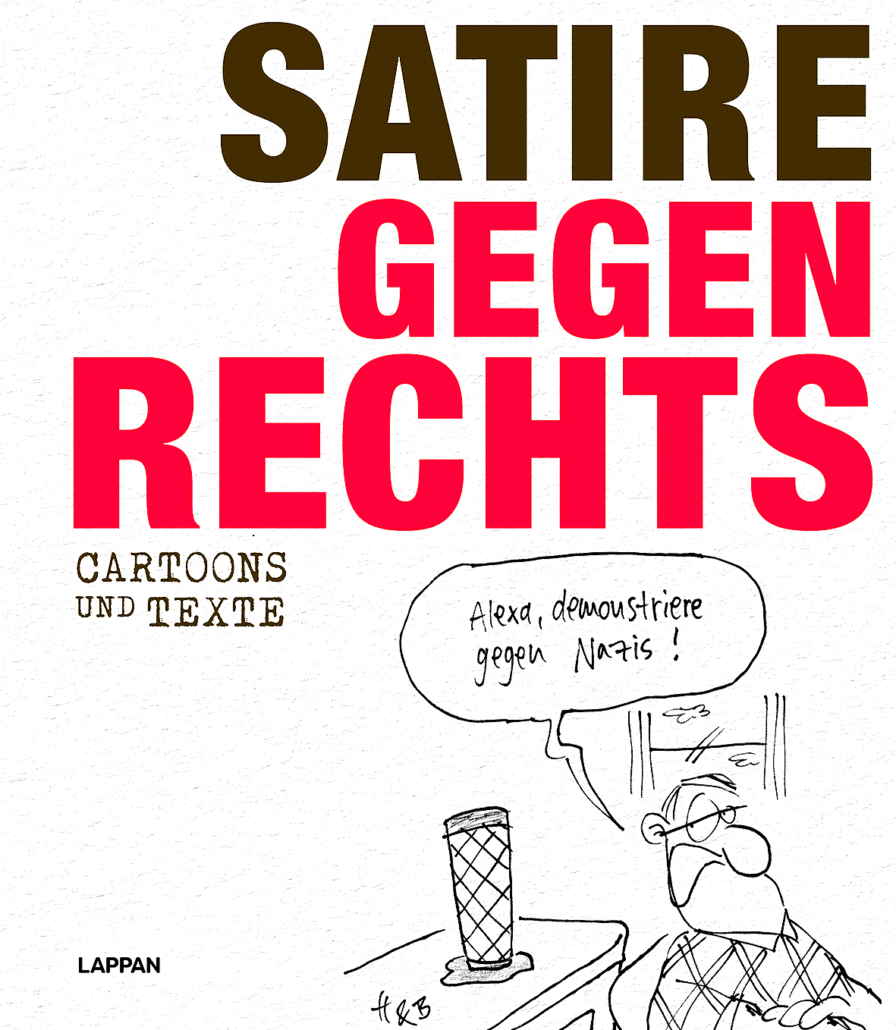 "Das Cover zum Buch ""Satire gegen Rechts""."