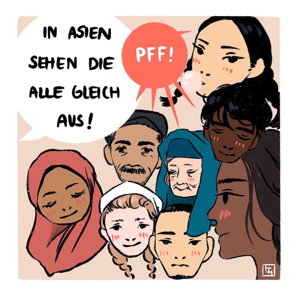 """Eine Karikatur aus dem Buch """"Satire gegen Rechts"""""""