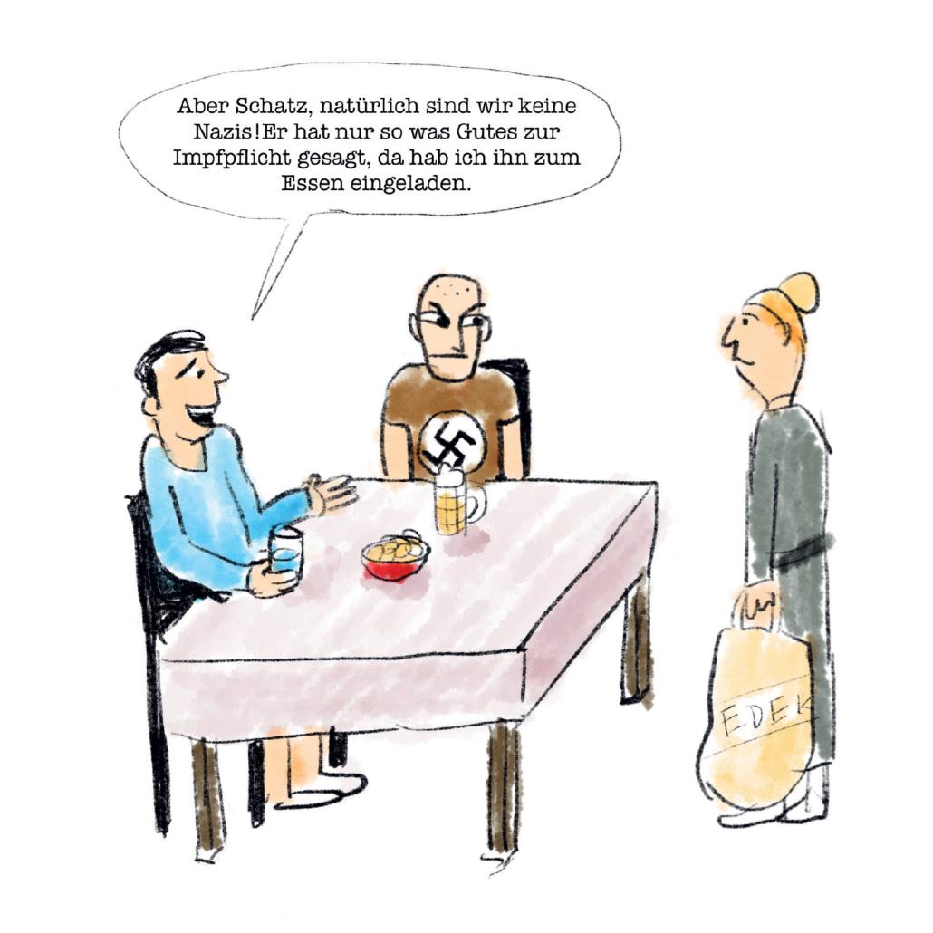 Eine Karikatur von Max Giermann