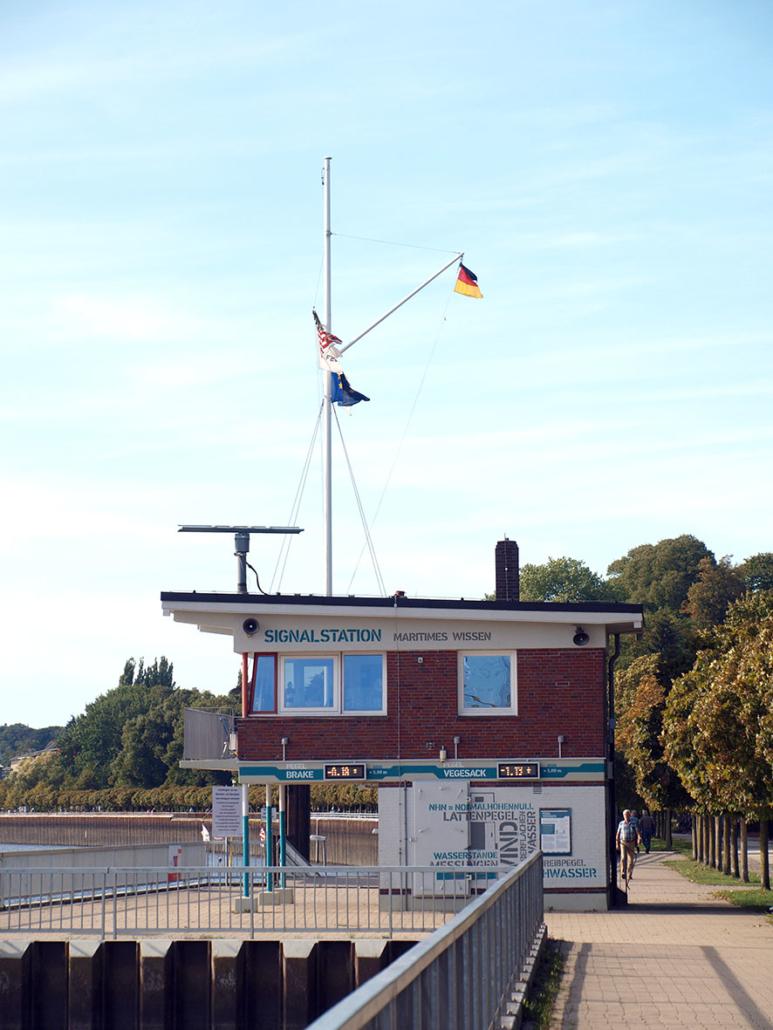 Die Vegesacker Signalstation.