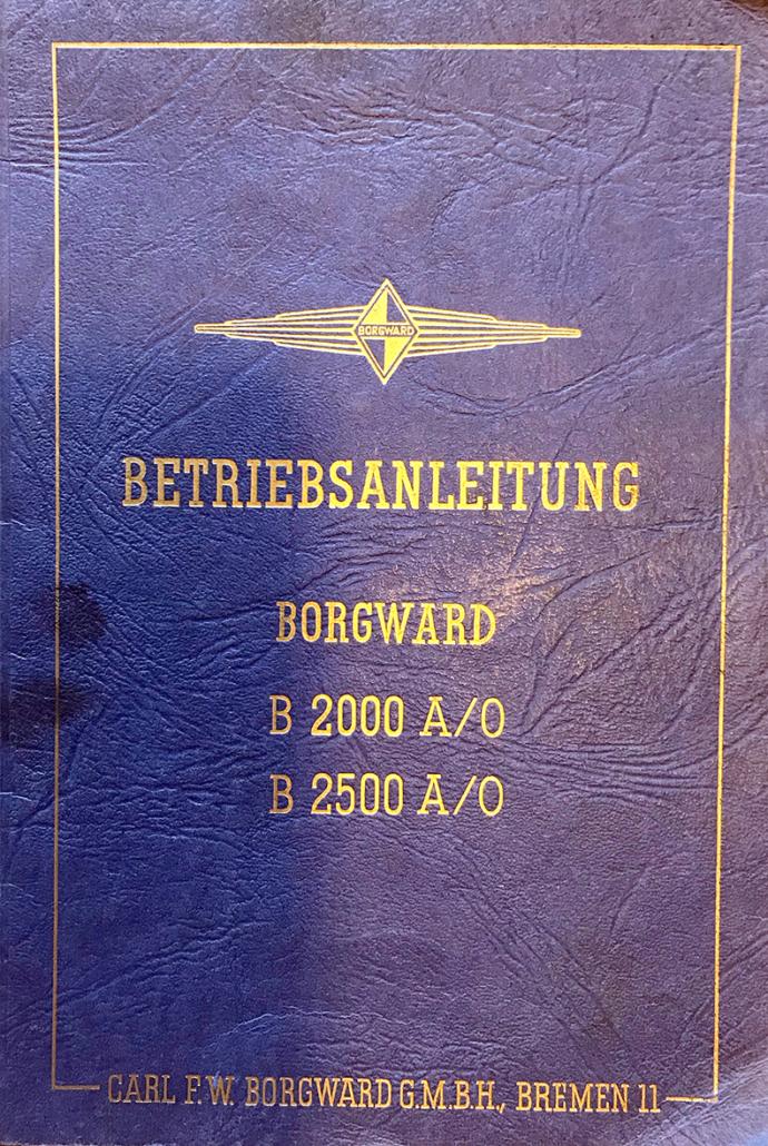 Eine Betriebsanleitung für einen Borgward-Lkw.