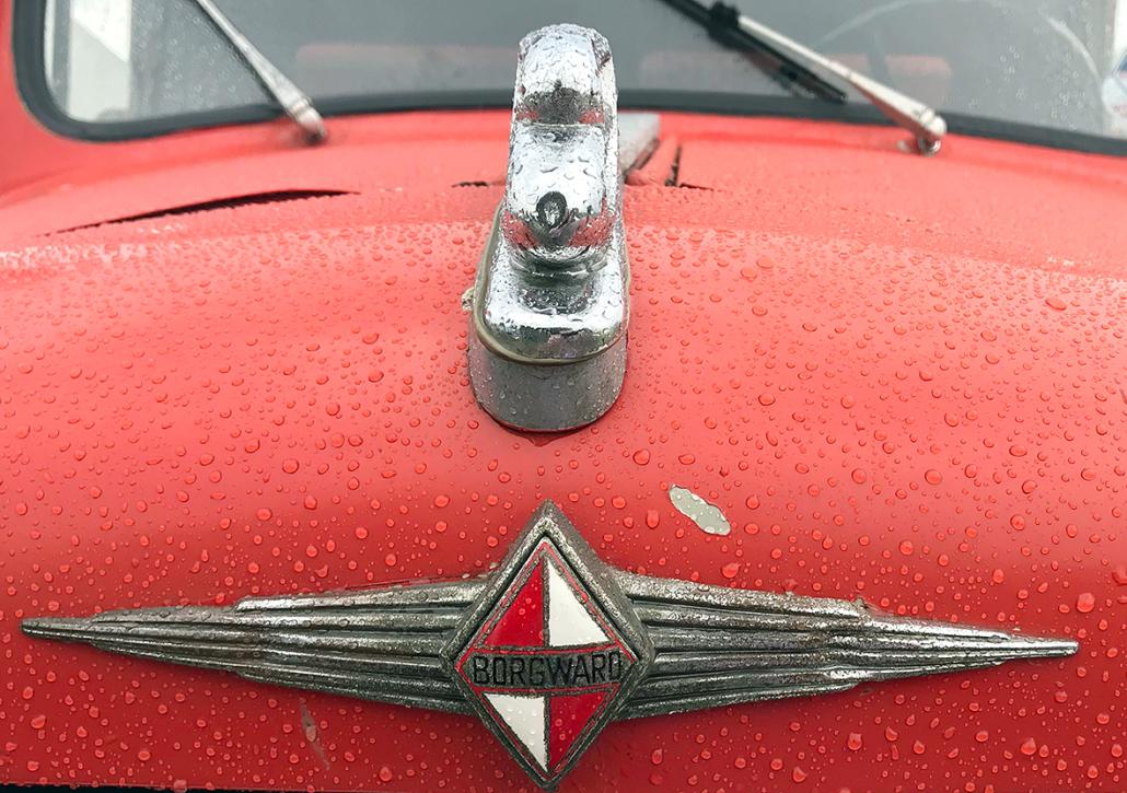 Das Emblem der Firma Borgward.