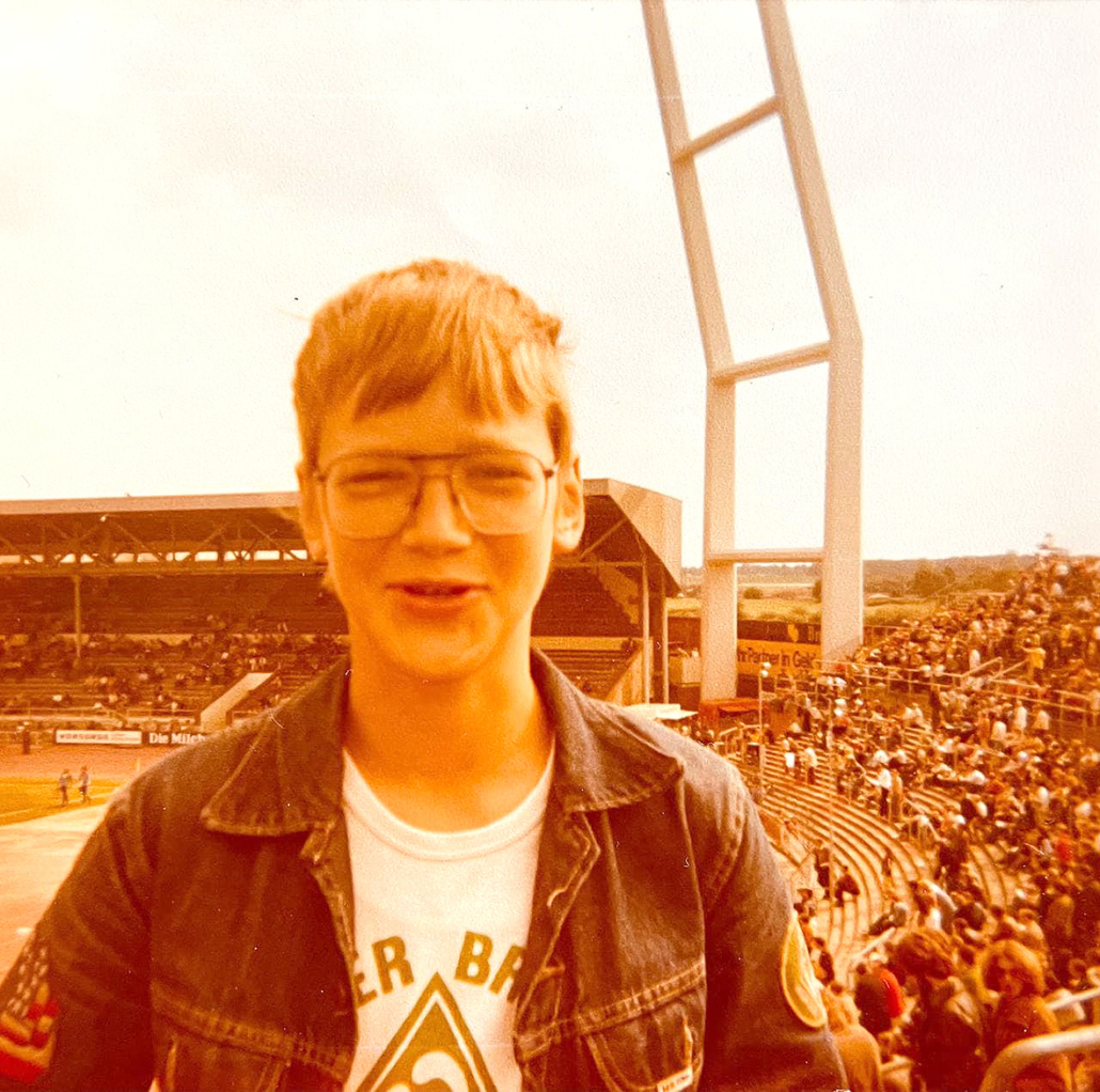 Frank Schümann im Alter von 14 Jahren.