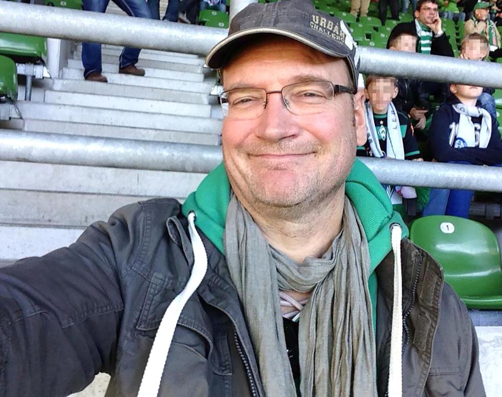 Frank Schümann im Weserstadion.