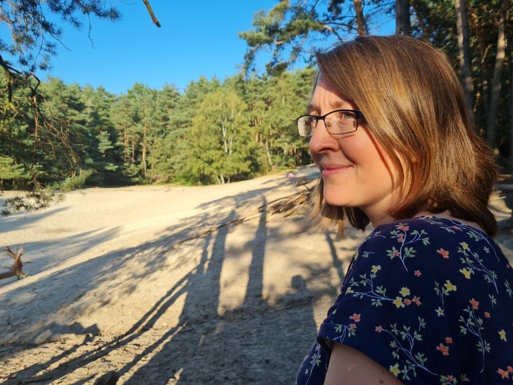 Reporterin Daniela Krause an ihrem Lieblingsplatz Warwer Sand