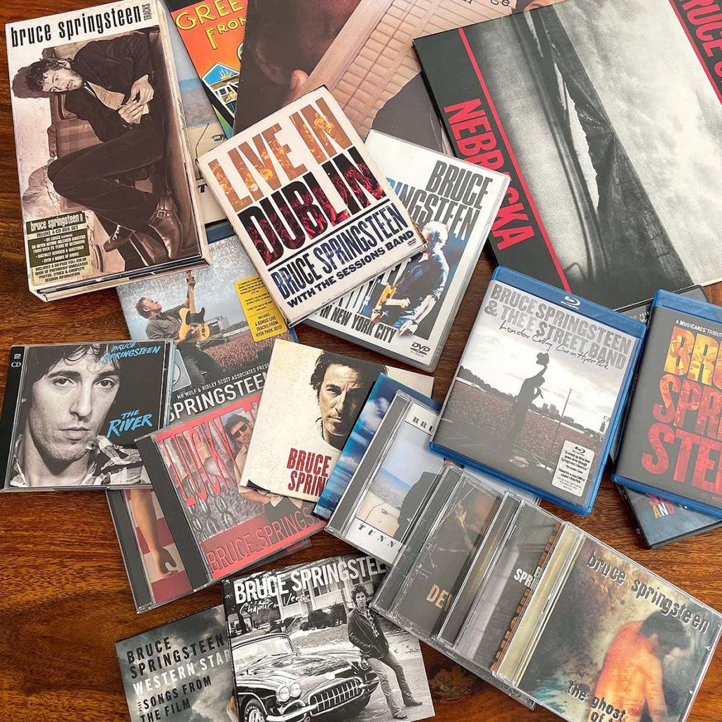 Mehrere Alben von Bruce Springsteen.